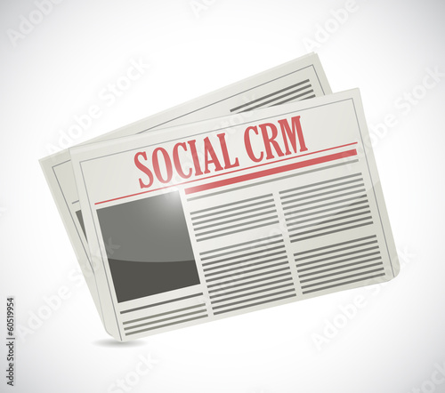 social crm newspaper illustration design