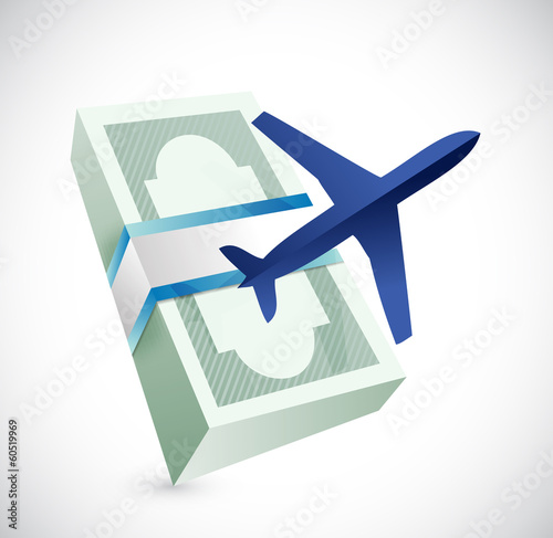 travel cost illustration design