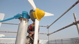 Wind turbine repair by engineer