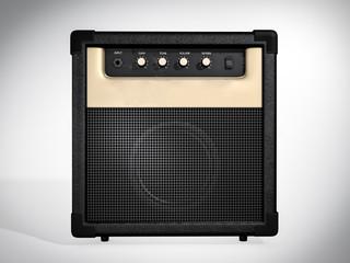 Guitar amplifier. Front view