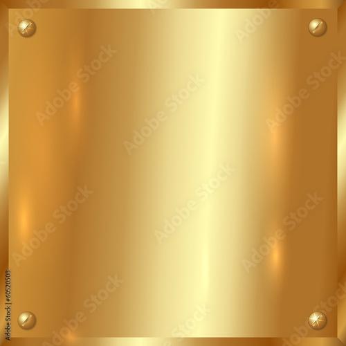 Papiers peints Metal Vector golden plate with screws