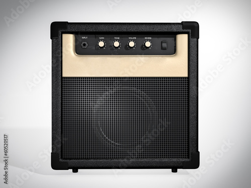 Guitar amplifier. Front view