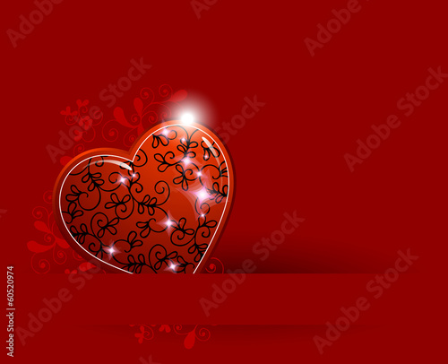 Valentine's red Background