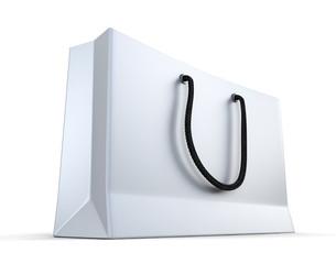 White shopping bag render
