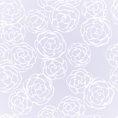 Seamless background with hand drawn gentle roses. Vector