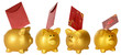 Collection Piggy Bank And Red Envelope