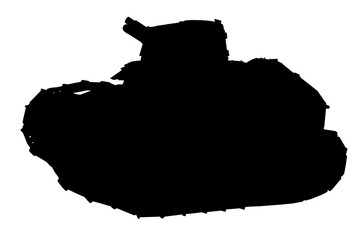 Silhouette of tank
