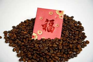 Chinese Ang Pao And Coffee Bean