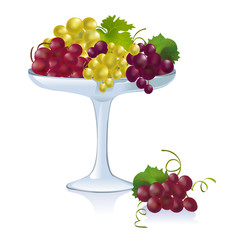 bowl with grapes