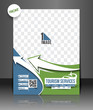 Vector Travel Brochure, Flyer, Front  Design