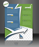 Vector Travel Brochure, Flyer, Back Design
