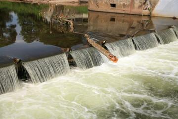 Little dam in Ratiborice, Czech Republic