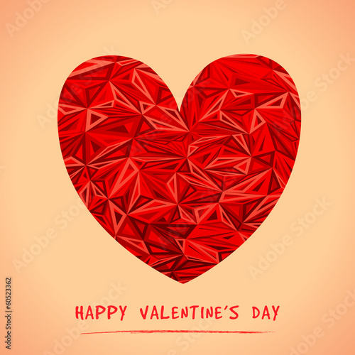 Happy Valentine's Day Greeting Card. Vector illustration