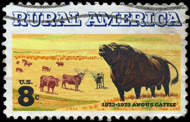 UNITED STATES OF AMERICA - CIRCA 1973: a stamp printed in the US