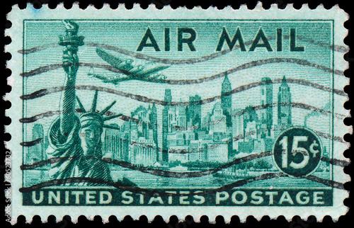 USA - CIRCA 1947: A stamp printed in United States of America sh