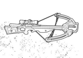 Outline crossbow