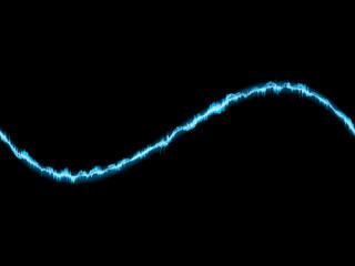 Blue wave on white background.   EPS10