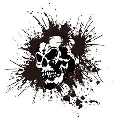 頭蓋骨とペイント
