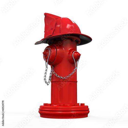 Fire Hydrant with Fireman Hat