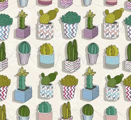 Cute seamless cactus patter