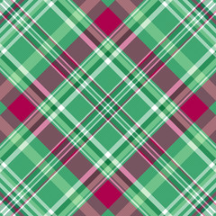 Seamless green-purple checkered pattern