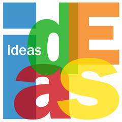 """IDEAS"" Letter Collage (innovation solutions problem solving)"