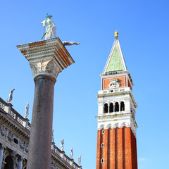 Campanile and statue of St.Theodore