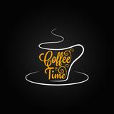 Fototapety coffee cup sign design background