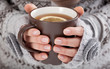 Woman hands with hot drink - 60527333