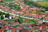 Transylvanian traditional village. A view from Rasnov castle