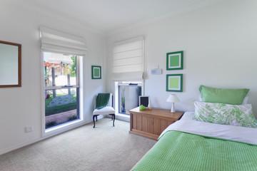 modern bedroom in luxurious house