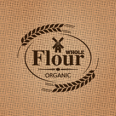 flour sackcloth texture background