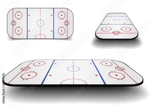 set icehockey court