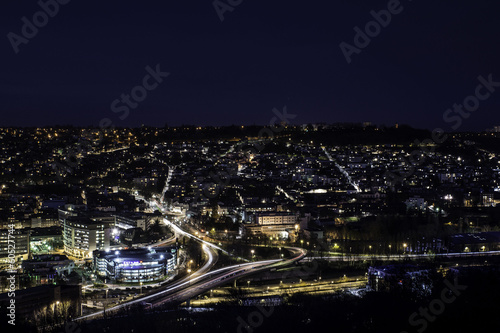 Panorama Rouen by night
