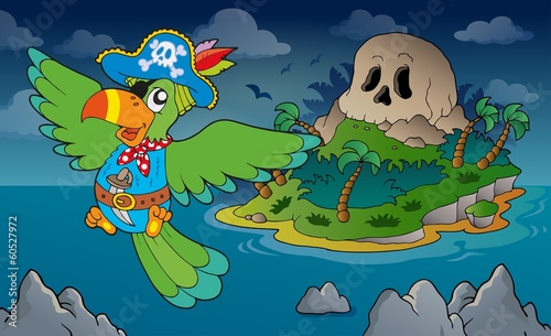 Theme with pirate skull island 4