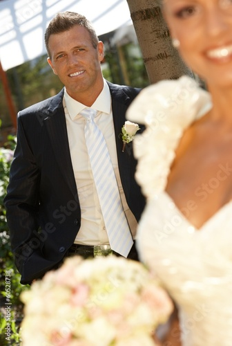 Portrait of handsome groom on wedding-day