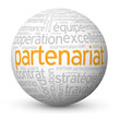 "Globe - Nuage de Tags ""PARTENARIAT"" (projets affaires business)"
