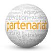 """Globe - Nuage de Tags """"PARTENARIAT"""" (projets affaires business)"""