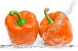 peperoni arancioni splash