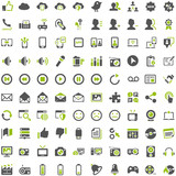 Top Green Grey Icons - Social Media Communication