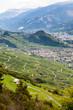 Vigneti sotto le alpi svizzere