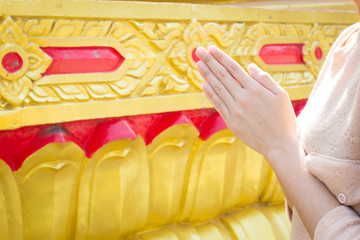 Thai Culture,Close Up Praying Hand