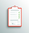 Flat design delivery signature clipboard