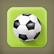 Soccer-ball, long shadow vector icon