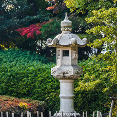 Stone lanterns at Okayama castle