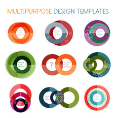 Collection of circle shaped multipurpose templates