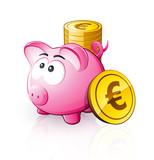 Cochon tirelire euro