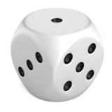 realistic 3d render of dice