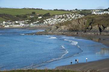 Challaborough South Devon viewed from Burgh Island
