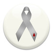 Grey diabetes awareness ribbon on white badge